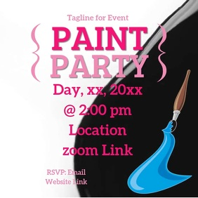 Paint Party Wpis na Instagrama template
