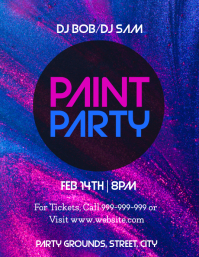 Paint Party Flyer (US Letter) template