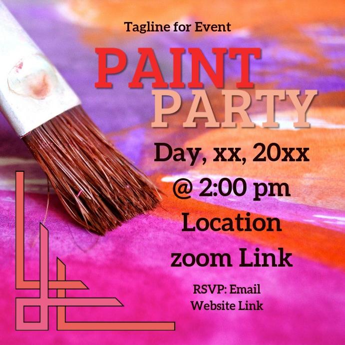 paint party โพสต์บน Instagram template