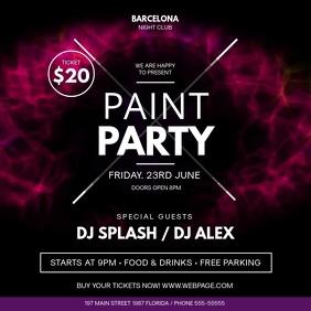 Paint Party Event Square Video