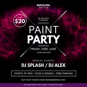 Paint Party Event Square Video template