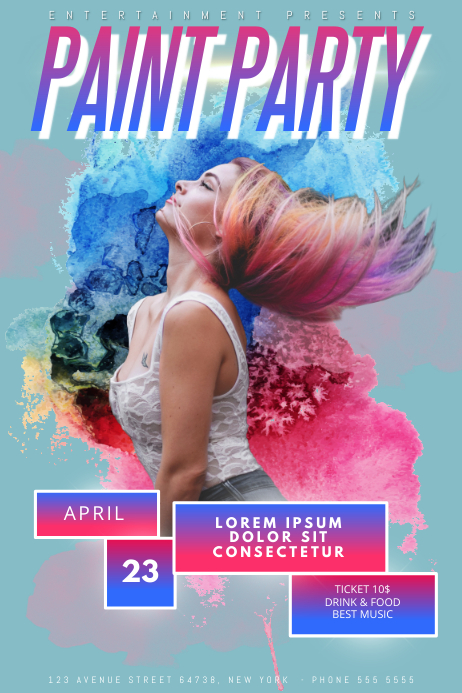 Paint Party Flyer Template