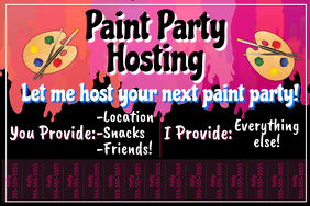 Paint Party Hosting