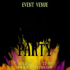 Paint Party Night Event Video Template