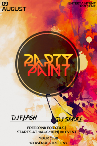 PAINT Party night flyer template