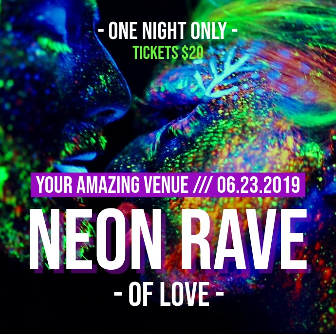 Paint Party Nightclub Rave Poster Video