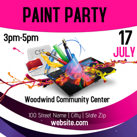 Paint Party Template
