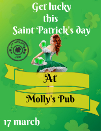Paint Patrick's day flyer