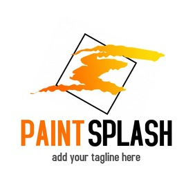 Paint splash logo