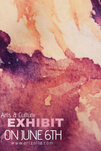 Paint Splash Watercolor Art Culture Exhibit Flyer Ad Campaign Simple Modern