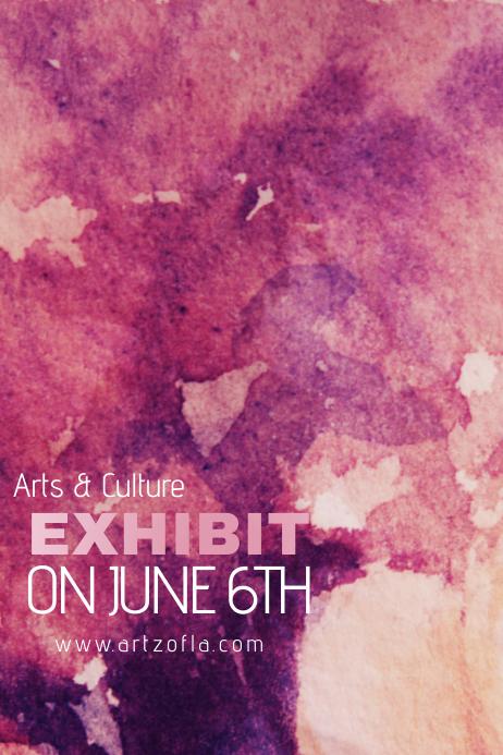 paint splash watercolor art culture exhibit flyer campaign simple