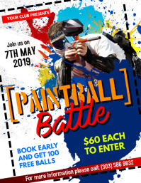Paintball Battle Flyer