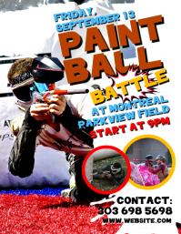 Paintball Battle Flyer