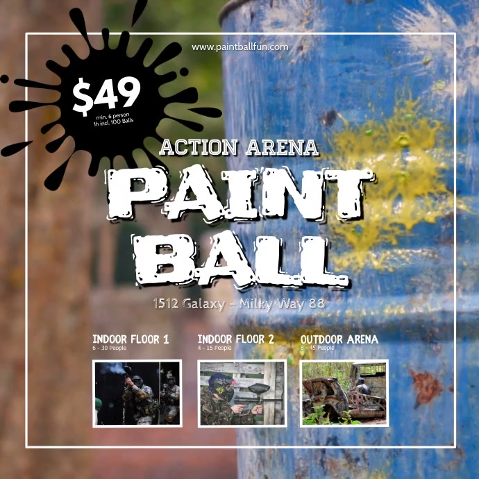 Paintball Event Flyer Offer Price Poster Ad