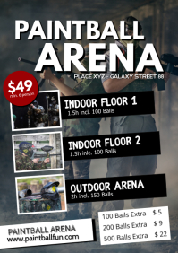 Paintball Farm Event Flyer Offer Poster Ad
