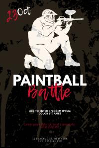 Paintball Flyer Design template