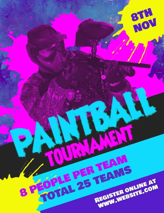 Paintball Tournament flyer