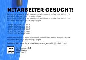 Painter Wanted Video Maler Pinsel Advertisement A4 template
