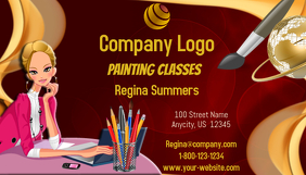 Painting Classes Business Card