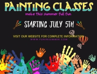 Painting Classes Template Folheto (US Letter)