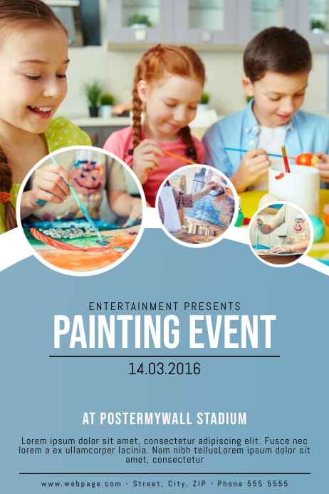 Painting Event Flyer template