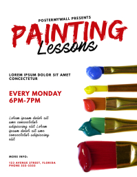 Painting Lessons Flyer Template