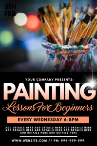 Painting Lessons Poster