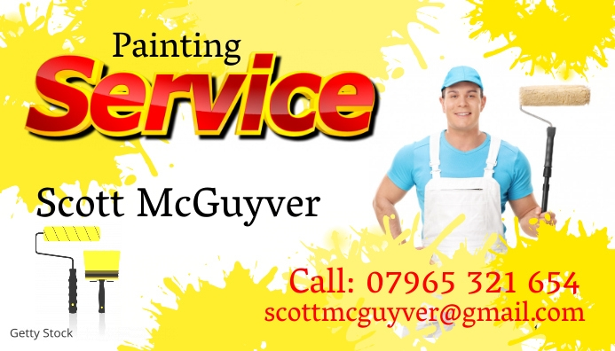 Painting Service Business Card Personnaliser Le Modele