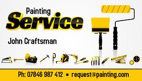 Painting Service business card Cartão de visita template