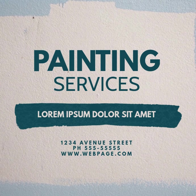 Painting Service Video Design Template 方形(1:1)