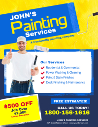 Painting Services Flyer Poster Template