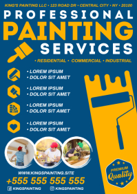 PAINTING SERVICES POSTER A4 template