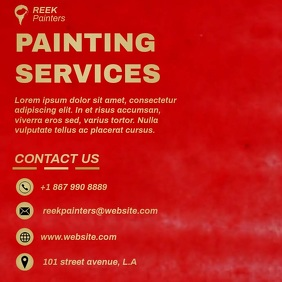 PAINTING SERVICES VIDEO AD TEMPLATE