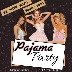 Pajama Party Instagram Post template