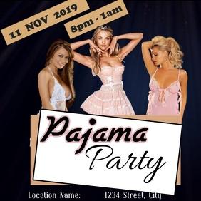 Pajama Party Publicación de Instagram template