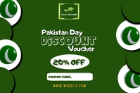 Pakistan Day discount voucher design customiz Label template