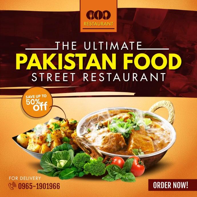 Pakistan Desi Food Breakfast Restaurant โพสต์บน Instagram template