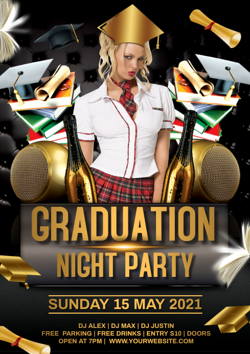 Graduation Party A4 template