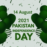 Pakistan Independence day,14th august Message Instagram template