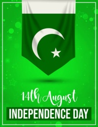 pakistan independence day Løbeseddel (US Letter) template