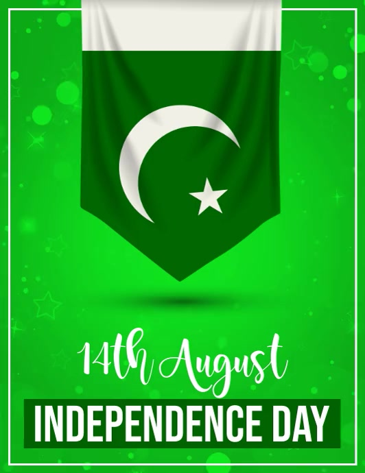 pakistan independence day Pamflet (Letter AS) template