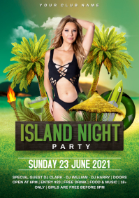 Island party A4 template