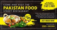 Pakistani Food Restaurant Special Offer Ad