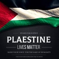 Palestine's lives matter Pos Instagram template