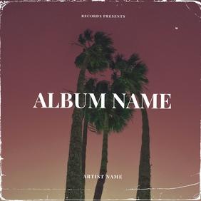 Palm Summer CD Album Cover Art Template Обложка альбома