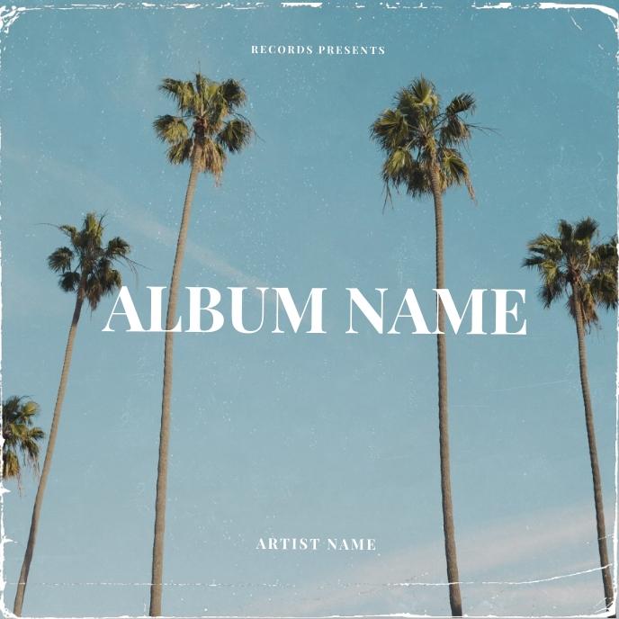 Palm Summer CD Album Cover Art Template