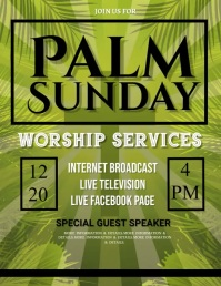 Palm Sunday, easter, event, spring, ใบปลิว (US Letter) template
