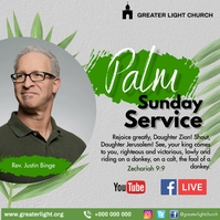 Palm Sunday Instagram na Post template