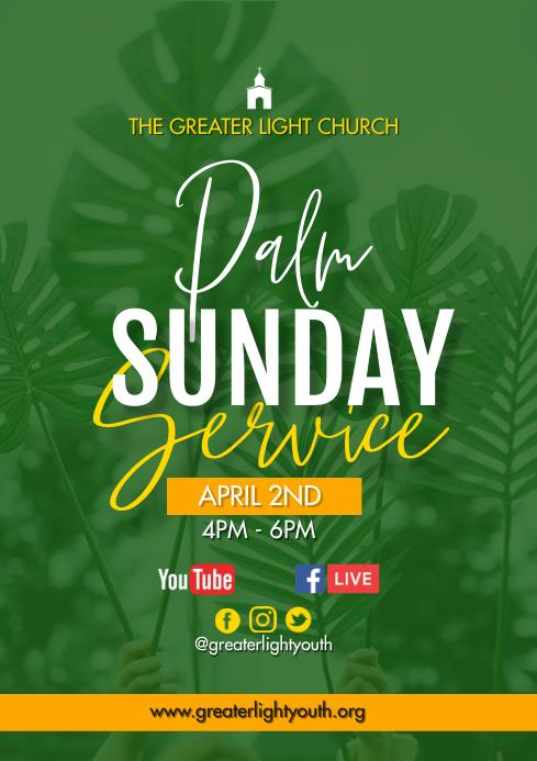 Palm Sunday A3 template