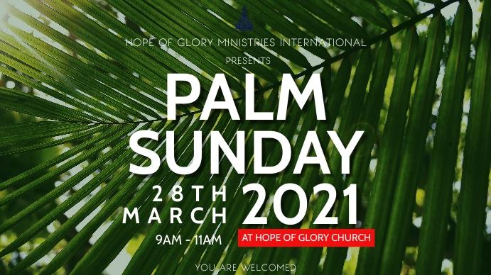 Palm Sunday Apresentação (16:9) template